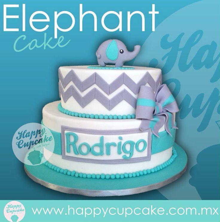 #ElephantCake #Elephant #HappyCupcake