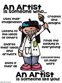 Artist Poster: This is the definition of an artist! - Great for kindergarten