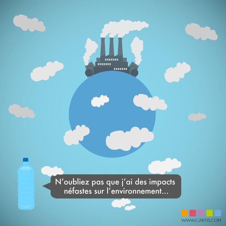 Préférez l'eau du robinet à l'eau en bouteille. #environnement #eau #consommation