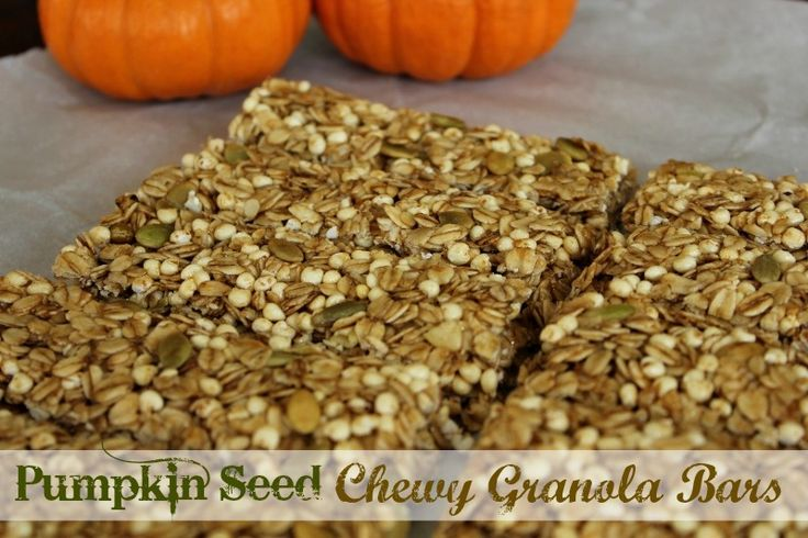 No-Bake Pumpkin Seed Chewy Granola Bars - Keeper of the Home