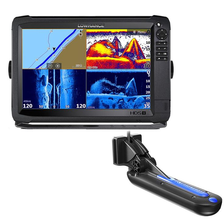 Lowrance HDS12 Carbon with CMap Insight Chart and