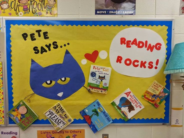 Mrs. Christy's Classroom Experiences: Back to School Bulletin Boards, Pete the Cat, Reading