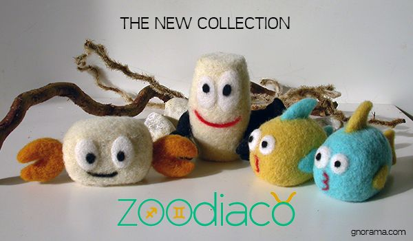 """New series of ZOOdiaco Gnoramà. Inspired by the line """"Little Animal"""", they are little puppets of handmade felt that which step into the shoes of the 12 signs of the zodiac! Available on the online store www.gnorama.com! #zoodiaco #felt #gnorama #feltedwool #handmade #handicraft #fattoamano #artigianato #lanainfeltrita"""