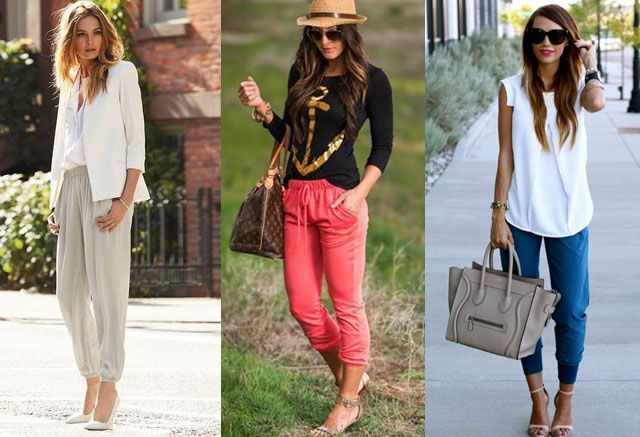 Jogger pants with high heels: yes or no?