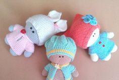 схемы игрушек малыш йо-йо в одежде вязаные куклы описание