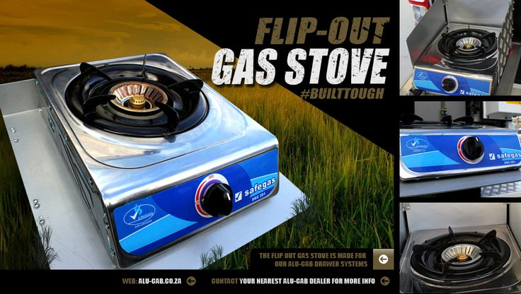 Alu-Cab's Flip-out gas stove