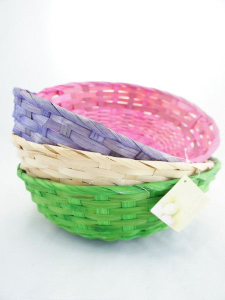 Bamboo Round Basket for easter