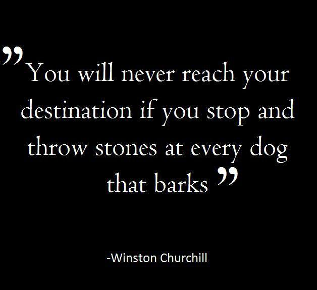 Churchill Quote Barking Dog