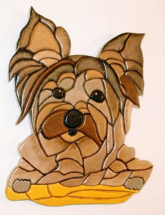 This Little  Dog is a Yorkshire Terrier it is by Galleryatkingston #woodsculpture #dog