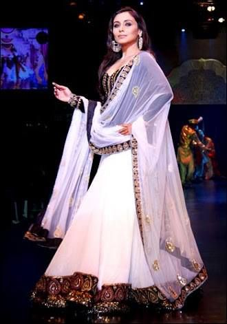 A stunning Rani Mukherjee Lehenga Choli only at $99 with FREE shipping offer.