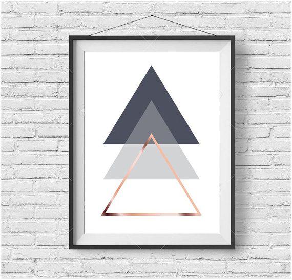 Gray Printable Art Abstract Poster Geometric Print von PrintAvenue
