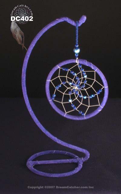 Tipos de  ❤~Atrapa Sueños ~❤  Cristal Azul  con Soporte - DreamCatcher.com