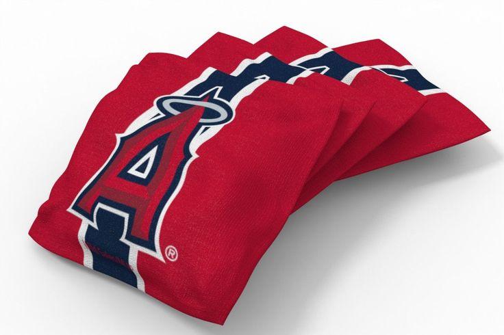 Los Angeles Angels of Anaheim Stripe Bean Bags-4pk (B)
