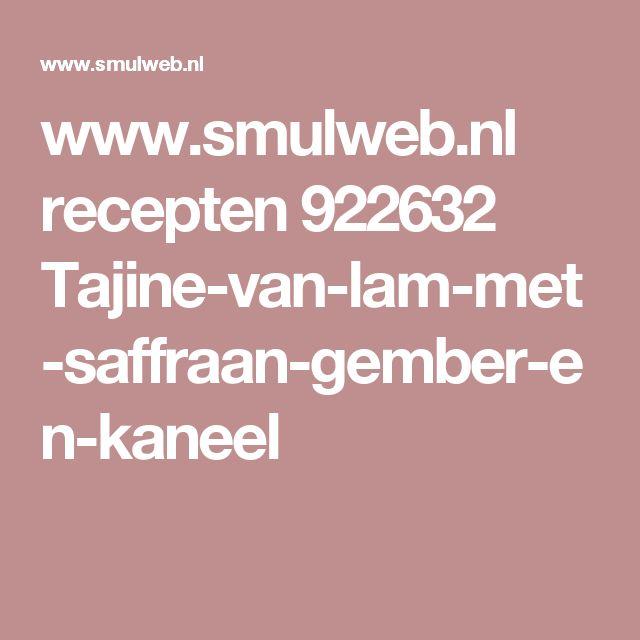 www.smulweb.nl recepten 922632 Tajine-van-lam-met-saffraan-gember-en-kaneel