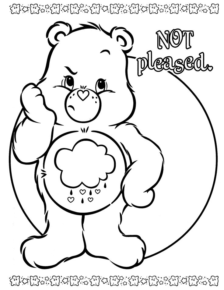 grumpy care bears coloring pages - photo#5
