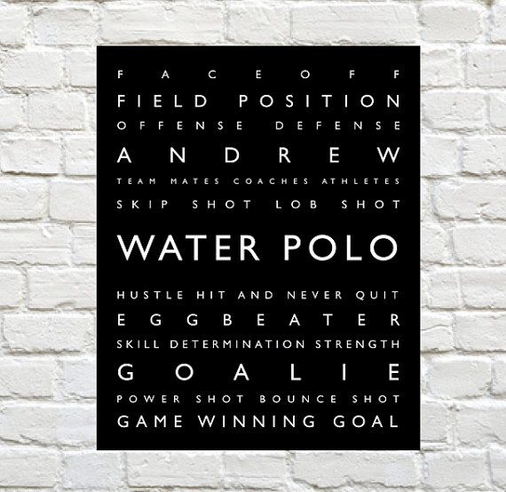 Water Polo  Personalized Prints Sports Decor by PaperWallDesign