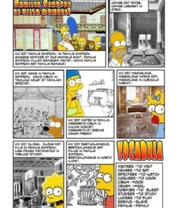 I don't like the Simpsons but this is pretty great. Familia Simpson in villa Romana.