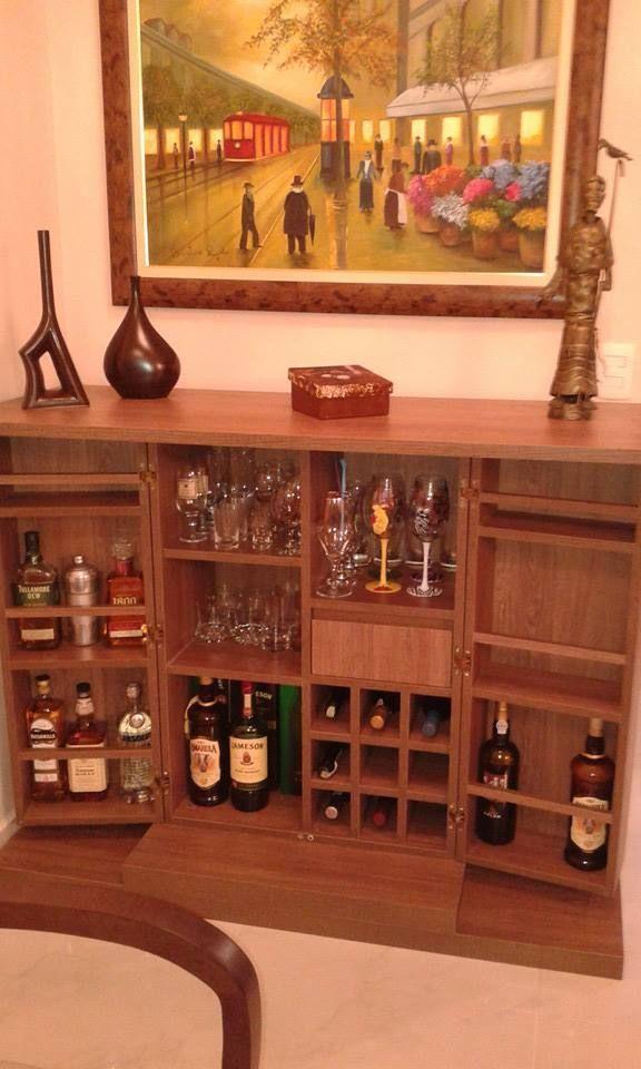 Bar em sala de estar