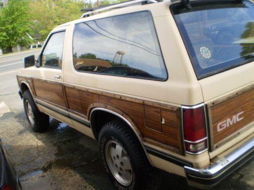 Gmc S15 Jimmy 1984 Gypsy Cars