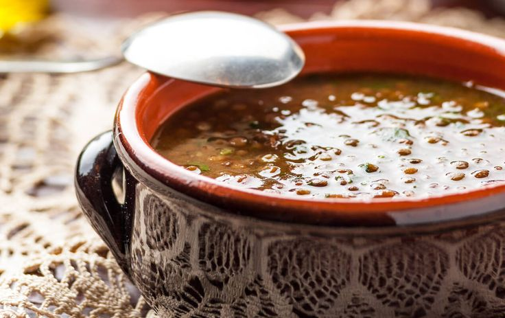 """Spicy Lentil Soup. Earth and fire… A spicy lentil soup is so filling and satisfying, in more ways than one. It's not only that delicious earthiness – a perfect """"feel good"""" soup. It's also that heat that pairs so well with that hearty flavor of lentil. Pair it with a fresh loaf of bread and you have a"""