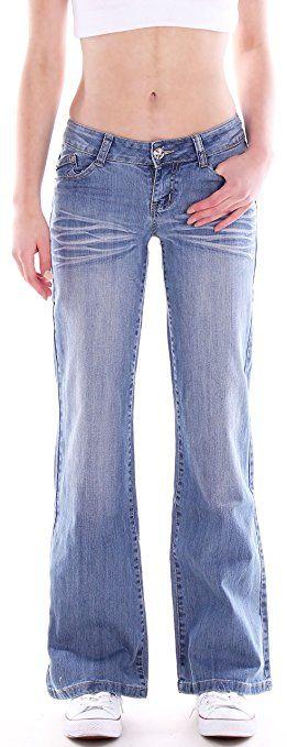 damen jeans schlagjeans schlag hose marlene h ftjeans in blau bekleidung pinterest. Black Bedroom Furniture Sets. Home Design Ideas
