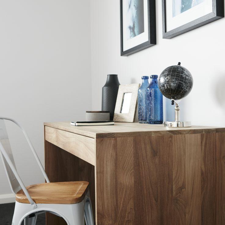 #office #desk #studyarea #wood #timber #homeoffice #workspace #officestyling #creativeworkshapce #wallart #popofcolour