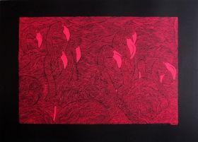 Flamand rose Sérigraphie sur papier Keaykolour Original Ébène 300 gr/m2