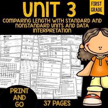 PRINT AND GO Math Sheets (graphs & measuring)
