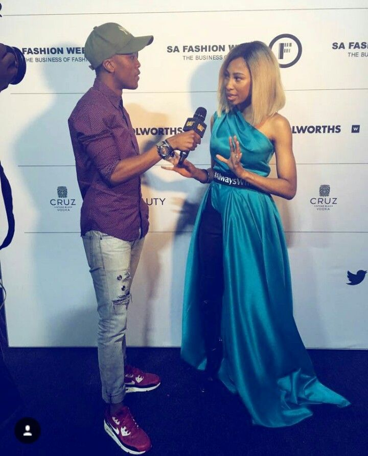 AZARIA khoza speaks to Engle mbali at south African fashion week