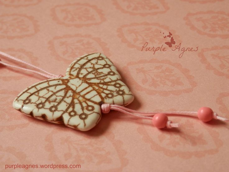 Bohemian Jewelry, Butterfly Pendant, Pastel Pink
