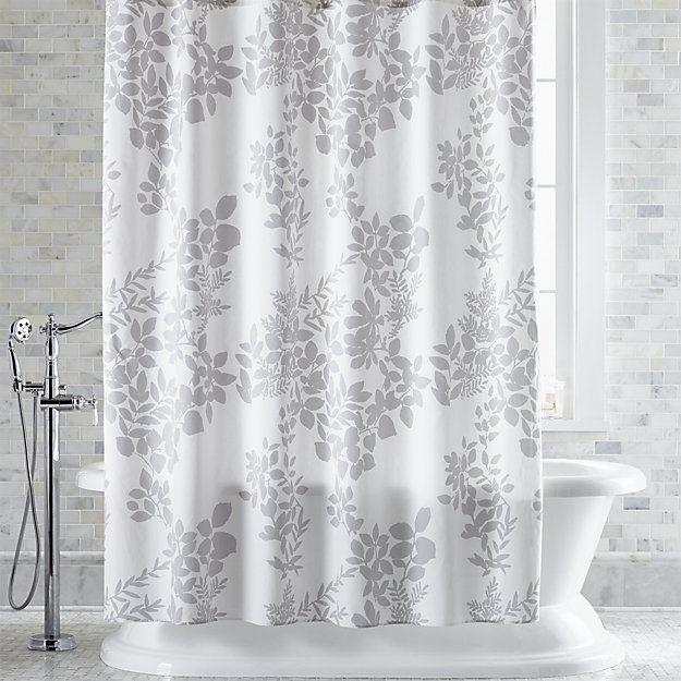 marimekko kukkula grey shower curtain