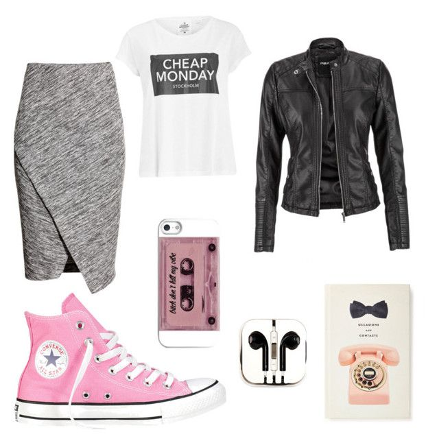"""Students are Back @ doubleblonded.blogspot.com"" by doubleblonded on Polyvore featuring Cheap Monday, H&M, maurices, Converse, PhunkeeTree and Kate Spade"
