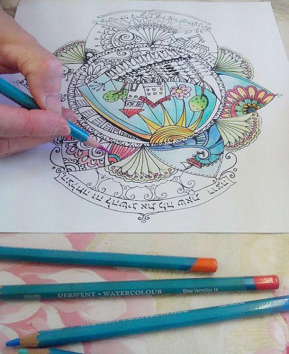Digital Mandala Art Coloring Page Printable PDF Pages