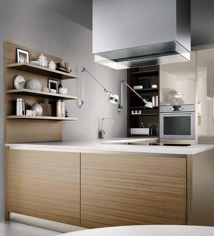 Aqua es una cocina de madera de roble es espaciosa donde - Precio madera de roble ...