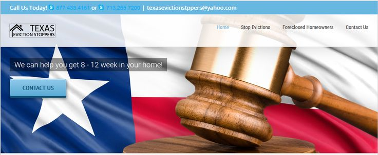 #EvictionHelpHouston If your behind on rent & have recieved a notice to vacate or write of possession we can help today - http://texasevictionstoppers.com/.