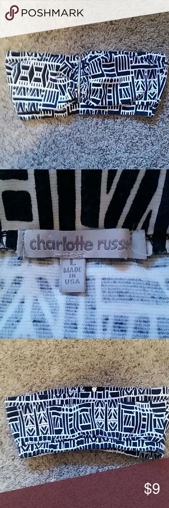 Charlotte Russe size L tribal bandeau top Charlotte Russe size L tribal bandeau top Charlotte Russe Tops Crop Tops