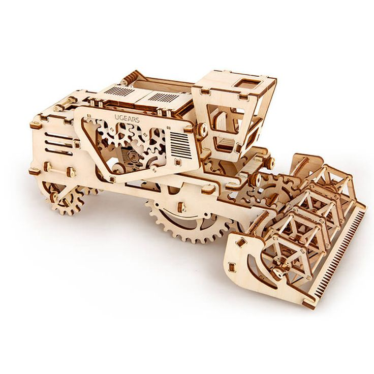 UGEARS - Mechanisch houten bouwpakket maaidorsmachine /combine