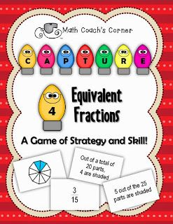 Math Coach's Corner: Equivalent Fractions Freebie!  Grab this holiday freebie as a token of my thanks this holiday season!