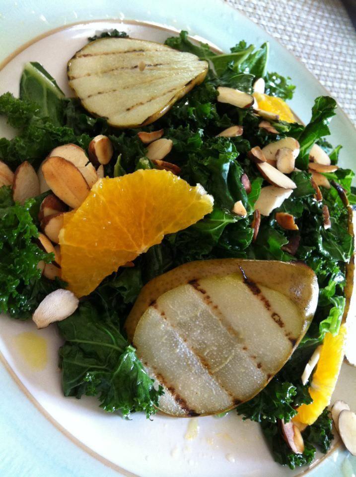 Kale, Pear and Orange Salad