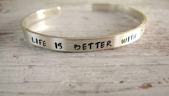 Sterling Silver Cuff Bracelet  Hand Stamped by designsbydawnrenee