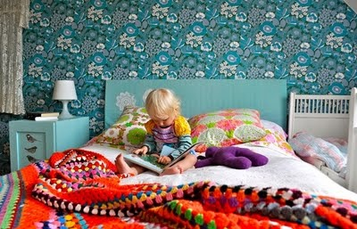 wallpaper!: Crochet Blankets, Pattern, Color, Decor Bedrooms, Wallpaper, Kid Rooms, Bedrooms Decor, Kids Rooms, Bedroom Ideas