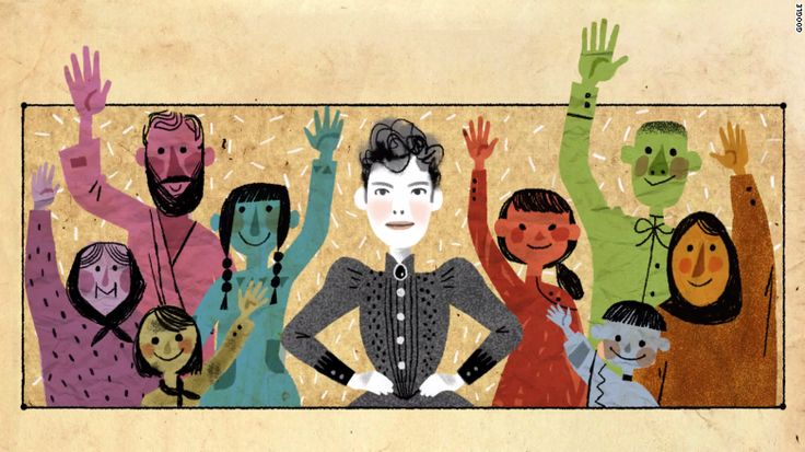 Google made a commitment in 2014 to feature more women and people of color in the beloved doodles on its homepage. The May 5, 2015, doodle honors pioneering journalist Nellie Bly with an original song by Karen O.