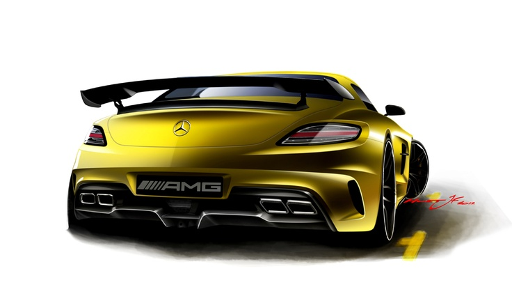 At the end of the design process, the designer creates an emotional flyer with further sketches of the car.