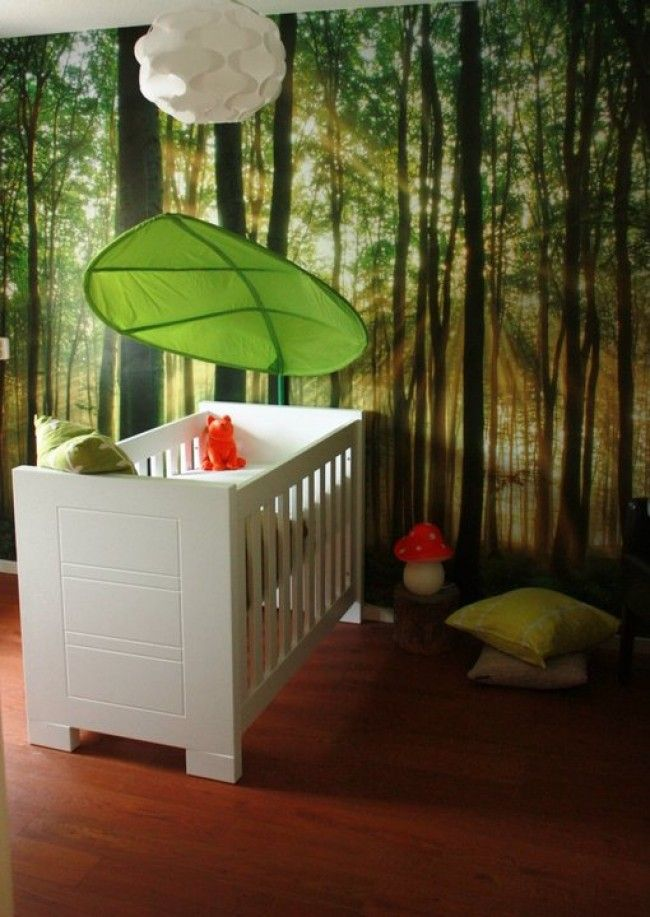 Nursery Rooms With Enchanted Forest And Baby Animals Painted