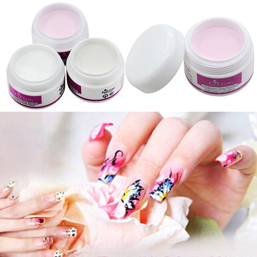 11.11 ! Sparkle Clear Transparent Color Acrylic Crystal Powder Nail Tips DIY Beauty Tool In Stock Fast Ship