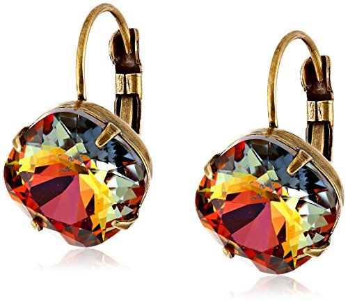 "Sorrelli ""Volcano"" Single Drop Crystal Earrings"