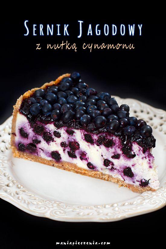 Sernik jagodowy z nutką cynamonu / Blueberry&Cinnamon Cheesecake