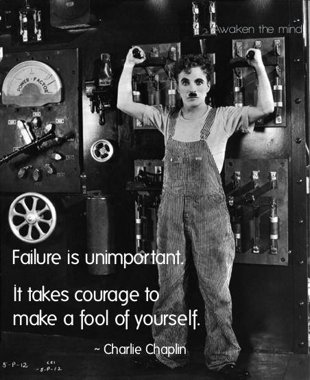 Charlie Chaplin quote courage