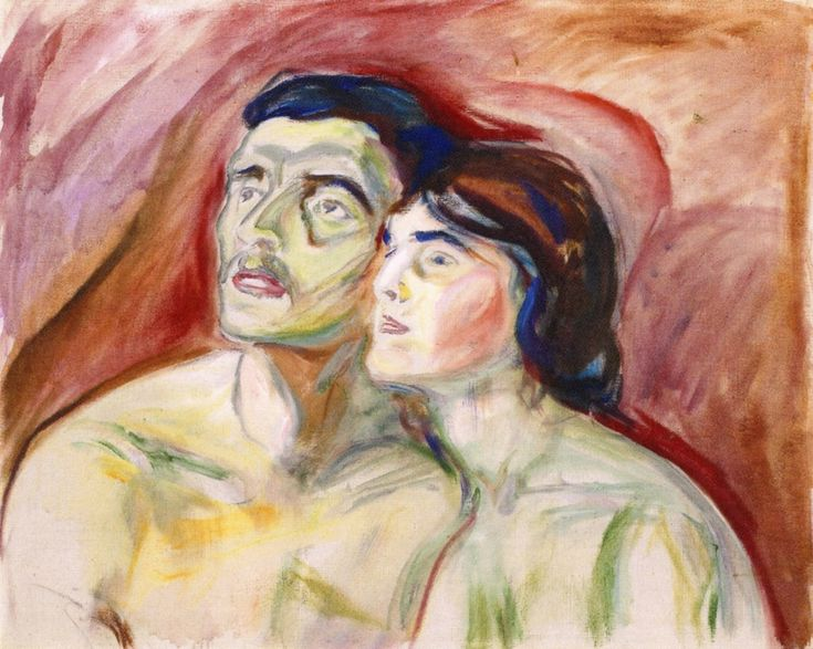 Cheek to cheek by Edvard Munch, 1919/20.