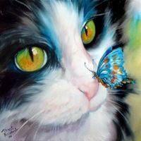 Новый 3D DIY алмаз живопись комплект из горного хрусталя вышивка смолы ремесла крашенный в пряже стены декор вышивки крестом бабочка кошка прекрасный ткани